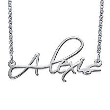 script name necklace personalized script name necklace in sterling silver