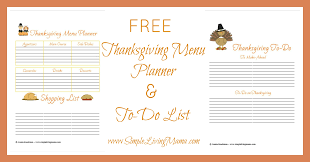 free printable thanksgiving menu planner simple living