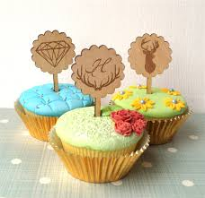 online shop 10pcs lot wood wedding cake topper cupcake toppers