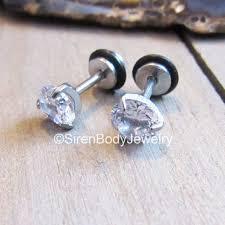 flat back earrings dermal tops conch earrings green opals from sirenbodyjewelry on