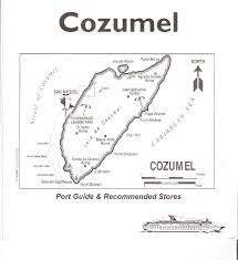 Cozumel Map Shore Excursions Port Visits Firsttimecruising Com A Personal