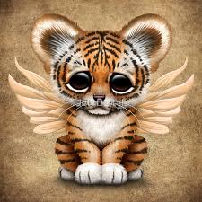 baby tiger cub with wings photographic prints by jeff