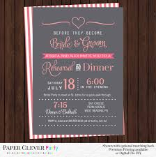 wedding rehearsal invitations wedding rehearsal invitations coral and gray modern dinner party