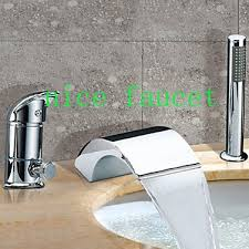 Sumerain Waterfall Faucet Waterfall Tub Faucet With Diverter Best Waterfall 2017