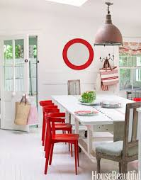 Best Dining Room Decorating Ideas And Pictures - Red dining room chairs