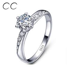 buy diamonds rings images White gold plated ring wedding bands engagement ring 925 sterling jpg
