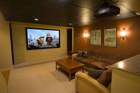 home theater paint alluring big screen and brown leather sofa as home theater wall