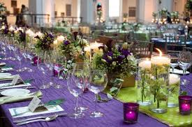 Long Table Centerpieces 37 Trendy Purple Wedding Table Decorations
