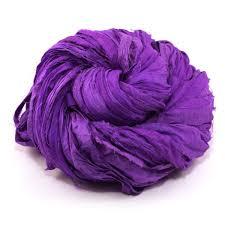 neon handmade sari silk ribbon darn yarn