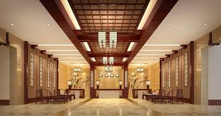 Chinese Style Hotel Lobby Interior Design Rendering Pictures D - Chinese style interior design