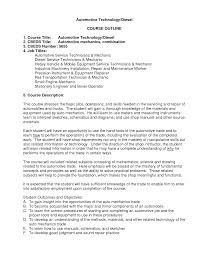 Auto Mechanic Job Description Resume by Diesel Technician Resume Resume For Your Job Application