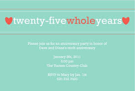 anniversary party invitation template 9 best 25th 50th wedding