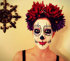 half face halloween makeup ideas day of the dead makeup commission by mizjaytee on deviantart