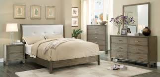 4 Piece Bedroom Furniture Sets Cm 7068gy Enrico 4 Piece Bedroom W Queen Platform Bed