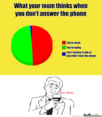Answer Your Phone Meme - rmx what your mom thinks when you don t answer the phone by