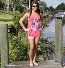 Model American Flag American Flag Anchor Tank Top Country Shore