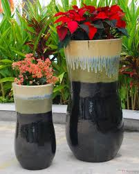 Outdoor Pots And Planters by Vietnamese Handmade Outdoor Glazed Ceramic Huge Beautiful Garden