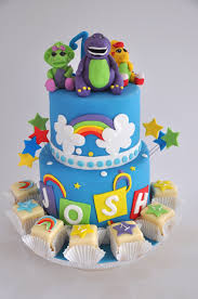 barney birthday cake rozanne s cakes brightly coloured barney and friends cake