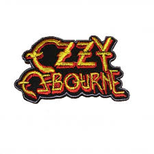 ozzy osbourne logo woven iron on embroidered patch monsterville