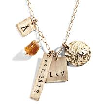 Personalized Photo Necklace Eclectic Personalized Charm Necklace Celebrity Mom Jewelry