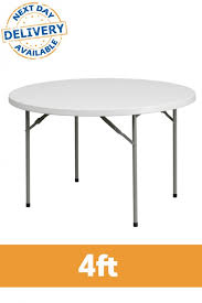 round plastic folding tables 4ft round plastic folding banqueting table