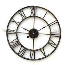 appealing metal wall clock 63 metal gear wall art clock large