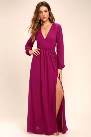 maxi dress with sleeves lovely magenta dress maxi dress sleeve dress 78 00