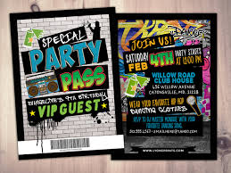 hip hop swagger vip pass backstage pass vip invitation