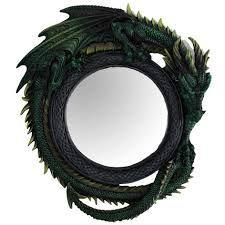gothic wall decor shenra com green dragon wall mirror