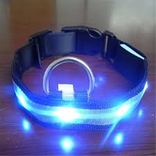 dog collar lights waterproof vogue pets dog adjustable led lights flash night safety nylon collar
