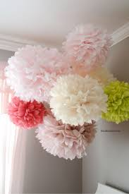 tissue paper pom poms tutorial tissue paper paper decorations