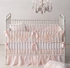 Baby Nursery Bedding Washed Appliquéd Fleur Nursery Bedding Collection Rh Baby U0026 Child