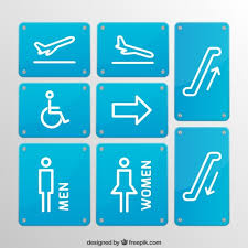Signage For Comfort Rooms Restroom Signs Vector Free Download