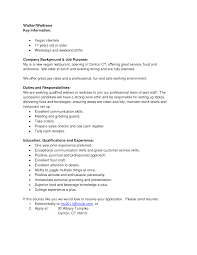 Food Service Job Description Resume by Waitress Job Description For Resume Berathen Com