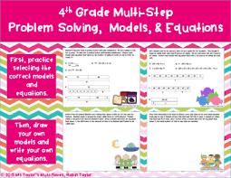 multi step problem solving models u0026 equations 4th grade