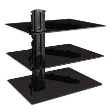 Wall Dvd Shelf Gforce Triple Dvd Shelf Wall Mount With Tempered Glass And