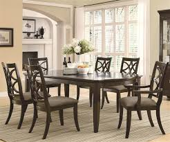 Dining Table Set Espresso Meredith 7 Pc Dining Table Set In Espresso Finish By Coaster 103531