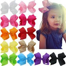 baby girl hair bows 12 pcs 6 inch baby big grosgrain ribbon boutique hair