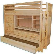 Wood For Building Bunk Beds by Build Your Own All In One Loft Bunk Bed With Trundle Desk Chest
