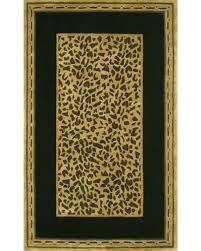 american home rug co african safari gold black cheetah print area