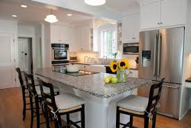 granite countertops kitchen island dining table lighting flooring