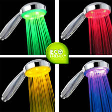 Colour Style by Led Shower Head 7 Rainbow Colours Disco Lights Style Shower