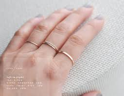 2mm gold filled flat band simple gold ring stacking ring