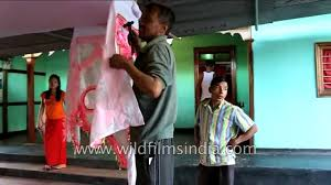 family members decorate house for wedding day manipur youtube
