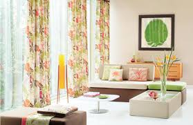 Modern Pattern Curtains Renovating Chic Modern White Living Room With Fresh Colored