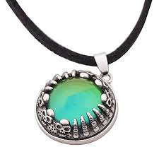 stone pendant leather necklace images Mojo jewelry mood stone in antique sterling silver jpg