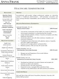 Admin Resume Samples by Healthcare Administration Sample Resume 16 Healthcare
