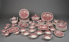 83 spode pink tower china set