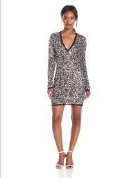 sequin dresses zoe women s longsleeve vneck sequin dress