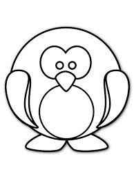 Cute Round Penguin Coloring Page Animal Pages Of Penquin Coloring Pages